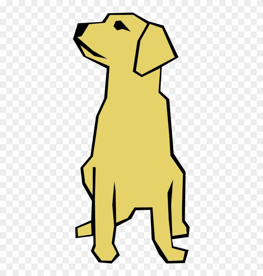 Dog Simple Drawing Clip Art - Drawings With Straight Lines #36165