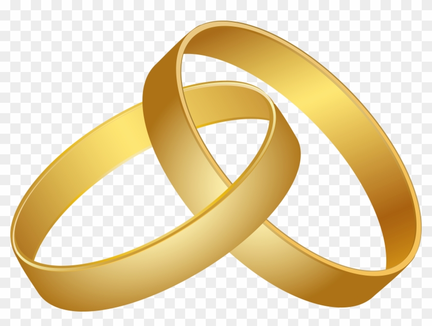 Wedding Rings Gold Png Clip Art - Wedding Ring Clipart Png #36228