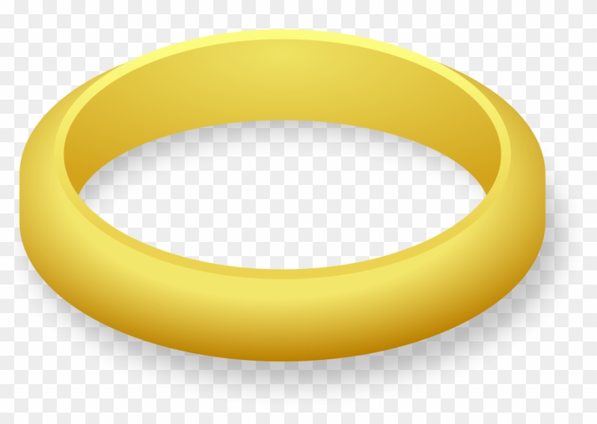 Wedding Ring Svg Vector File, Vector Clip Art Svg File - Gold Ring Clipart #36255