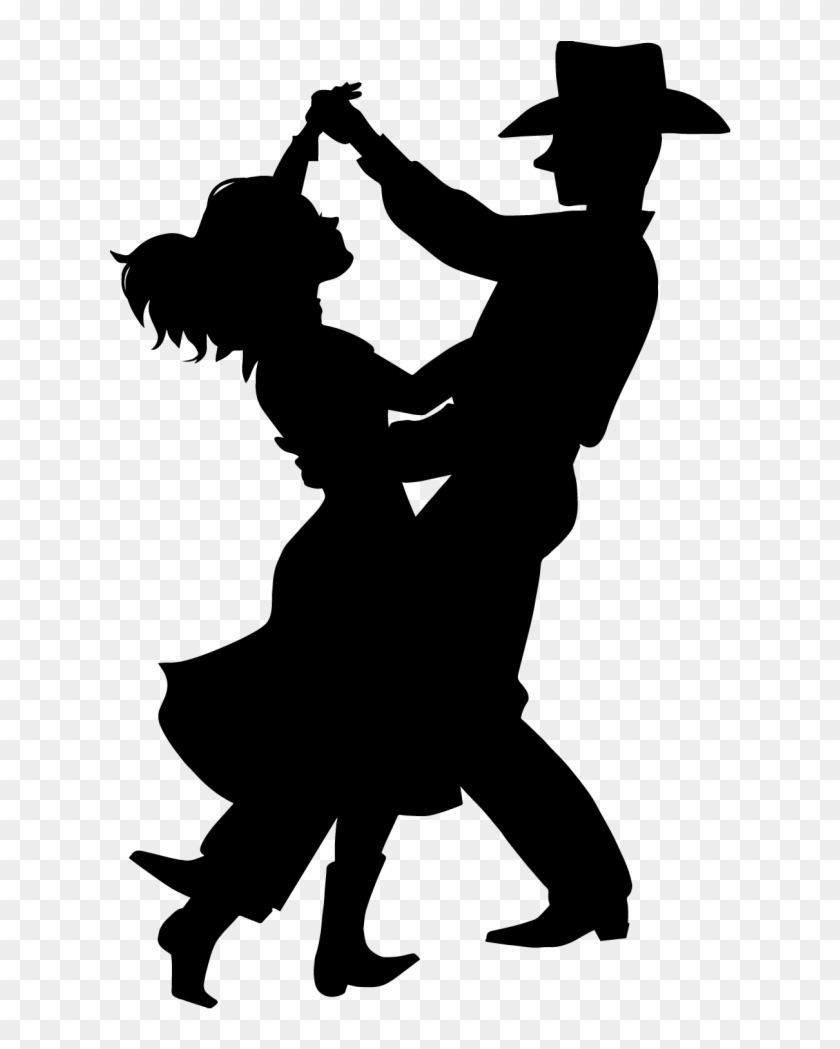 Line Dancing Silhouette - Country Dance Clip Art #36261