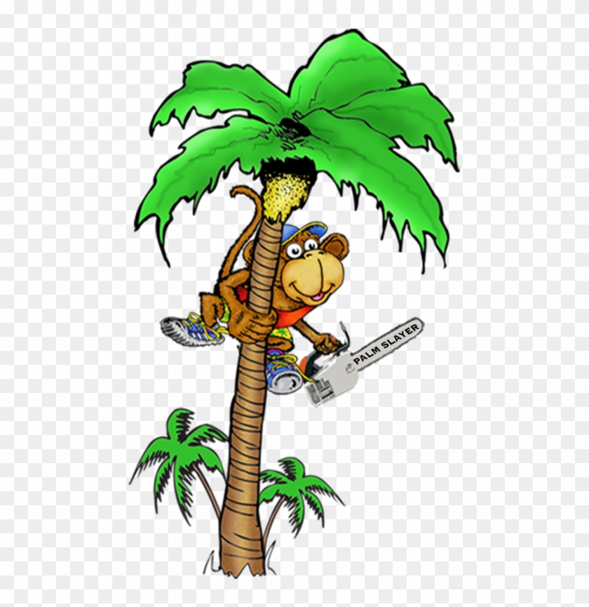 Coconut Tree With Monkey Cartoon Png #36409