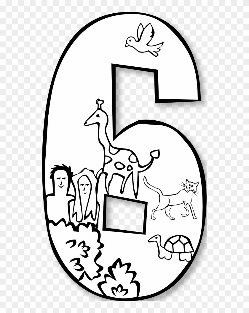 Number Clipart Day Creation - First Day Of Creation Coloring Pages #36498