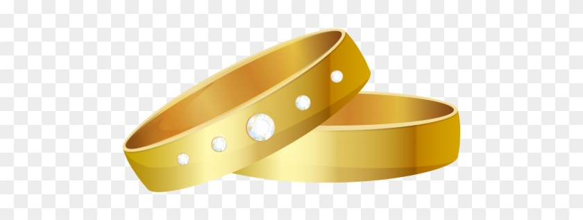 Wedding Rings Gold Png Clip Art - Wedding Ring #36521