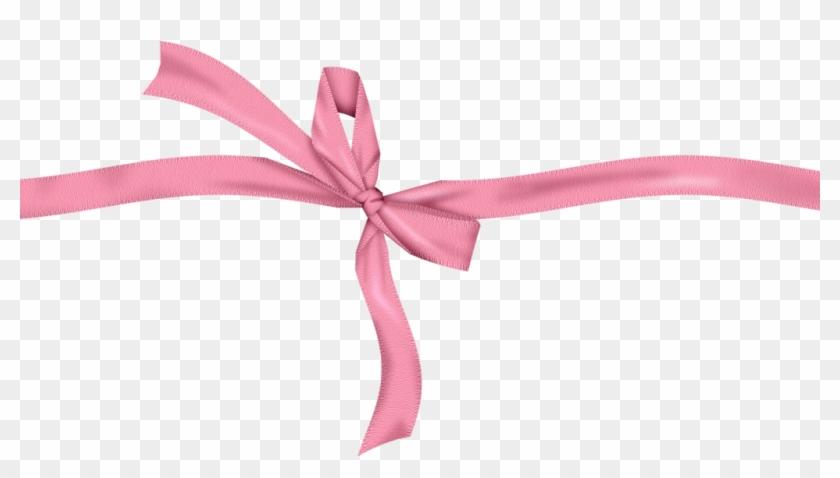 Girly Bow Christmas Bow Clip Art - Pink Bow Ribbon Png #36630