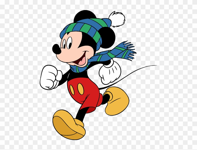 Mickey Mouse Clip Art - Mickey Mouse Winter Png #36741