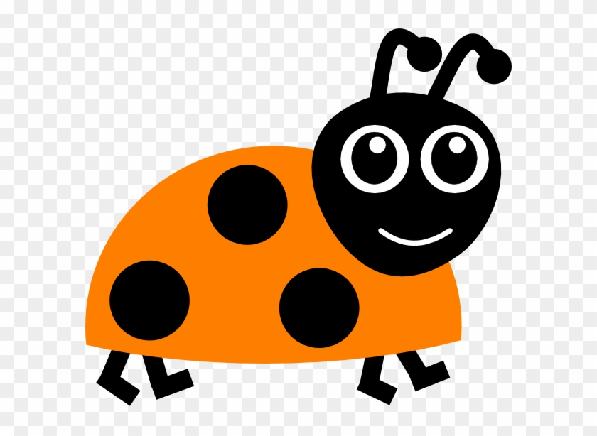 Orange Ladybug Clip Art - Orange Ladybug Cartoon #36826