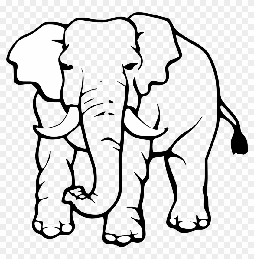 Elephant Clipart Black And White Many Interesting Cliparts - Elephant Clipart Black And White #36940