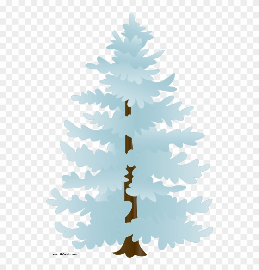 Download Bitmap Picture Snow Covered Tree - Snow Tree Clipart Free #37050
