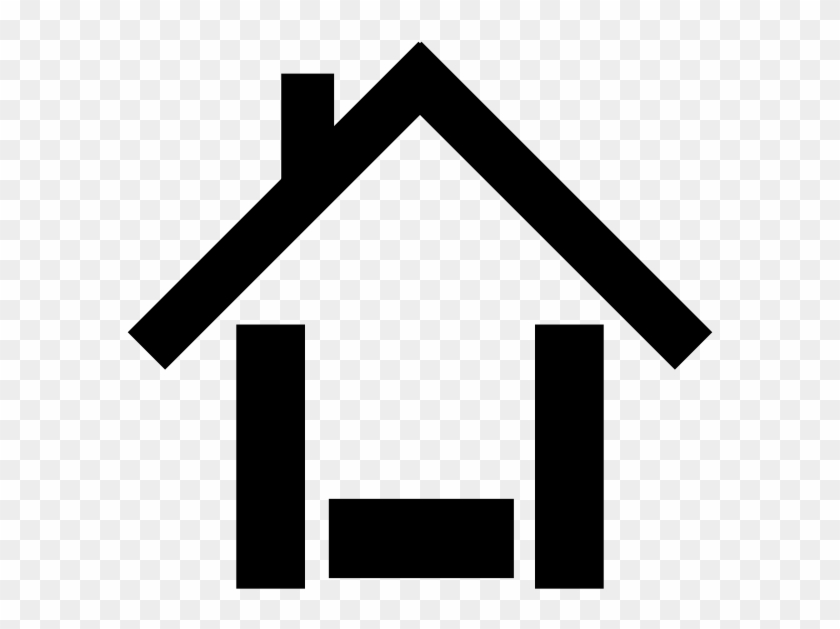 House Icon Black Clip Art At Clker Com Vector Online - House Icon Royalty Free #37080