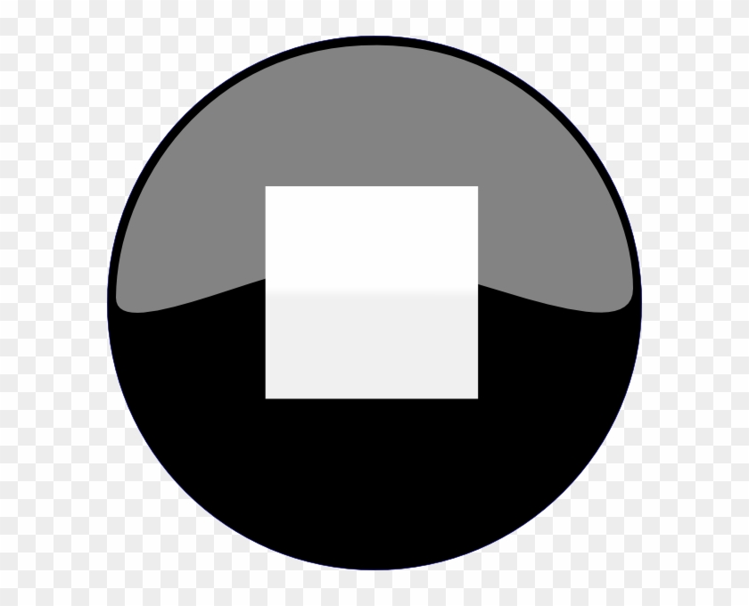 Stop Button Black Svg Clip Arts 600 X 600 Px - Play And Pause Button Png #37090