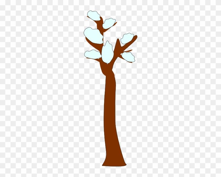 Tree In Snow Clip Art At Clker - Winter Clip Art #37108