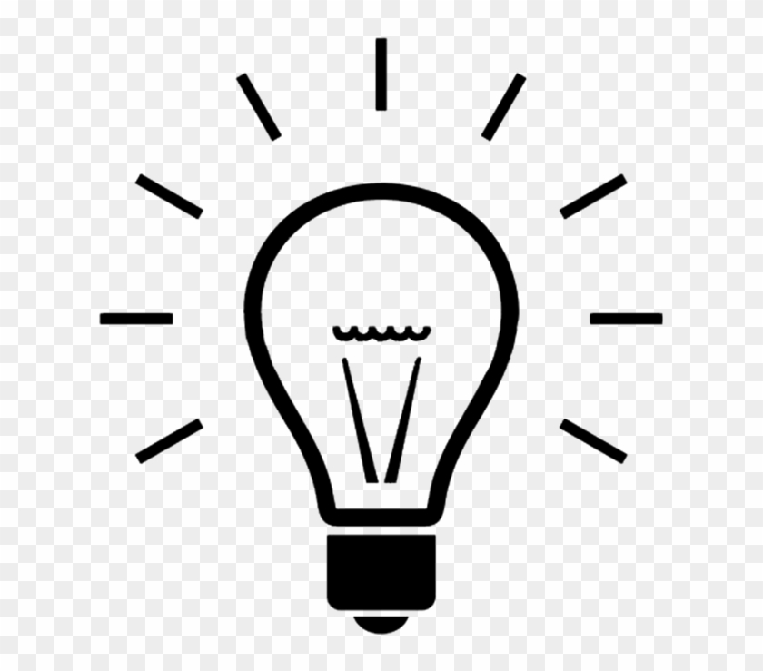 Clipart Excellent Light Bulb Black And White File Simple - Creative Commons Icons Light Bulb #37248