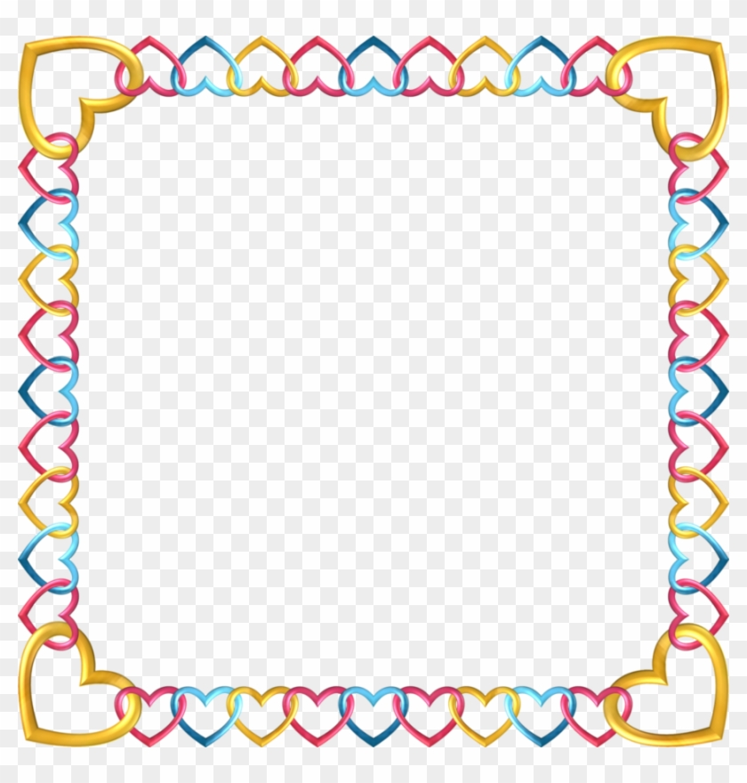 graphic about Printable Frame identify Sq. Body Tropical 5 Through Happyare - Printable Border Paper