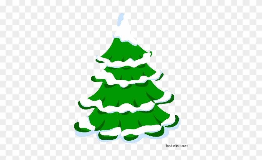 Snow Covered Tree, Free Christmas Clip Art - Jingle Bells Song Lyrics #37612