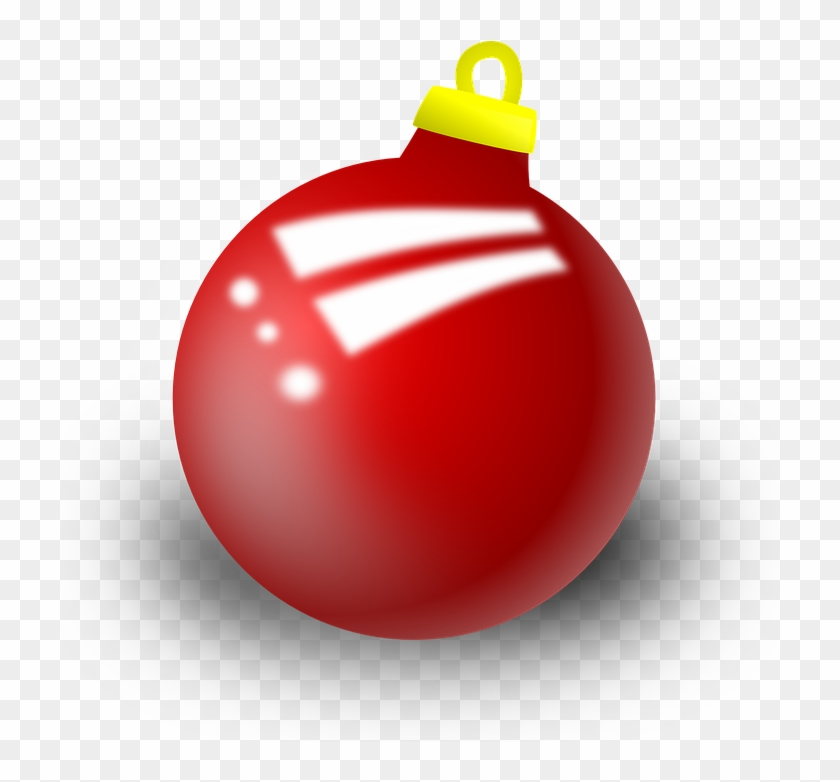 Bell Ornament Decoration Red Christmas Xmas - Christmas Ornament Clipart #37816