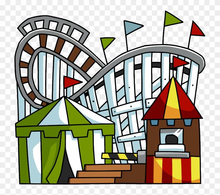 Roller Coaster Rollercoaster Clip Art Hostted - Amusement Park Clip Art #37981
