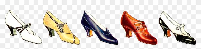 Free Fashion Clip Art - Shoes Clipart Border #38055