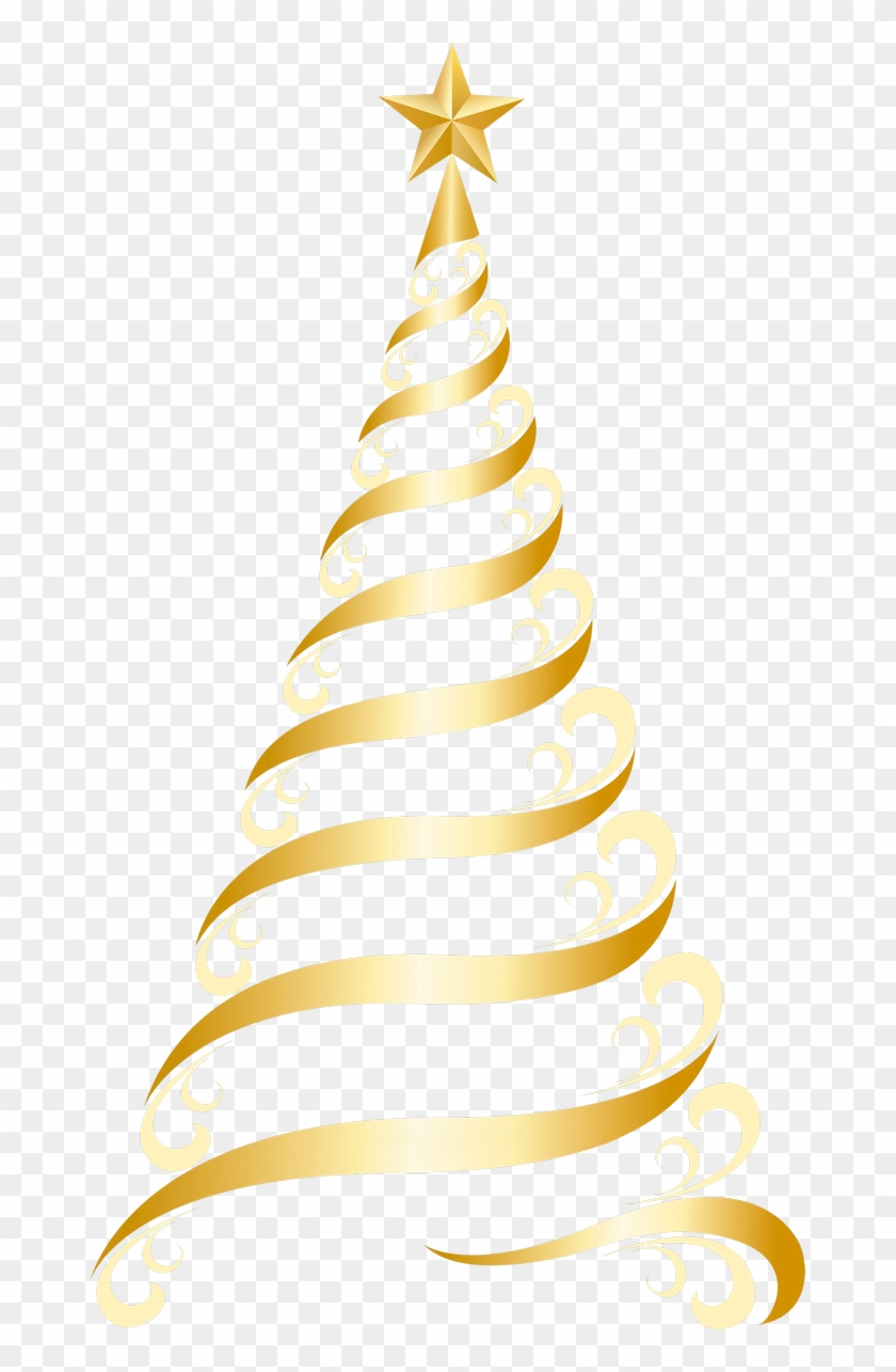 Golden Deco Tree Png Clipart, Is Available For Free - Tree Christmas Golden Transparent Background #38063