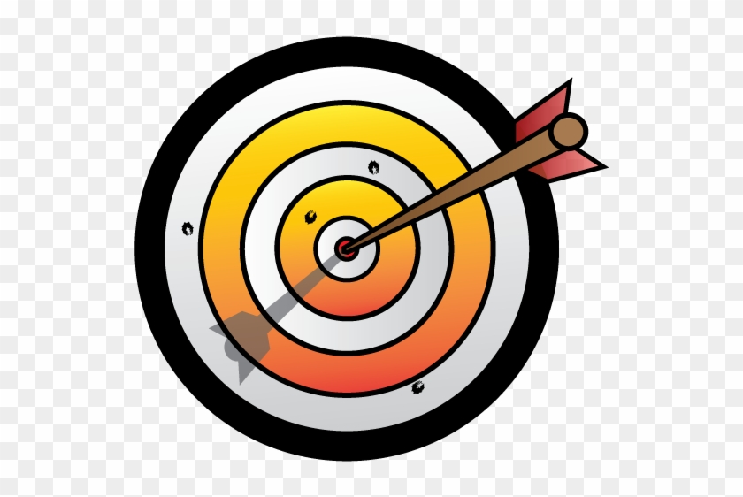 Arrow And Target By Cliffengland On Clipart Library - Arrow In Target Clipart #38121