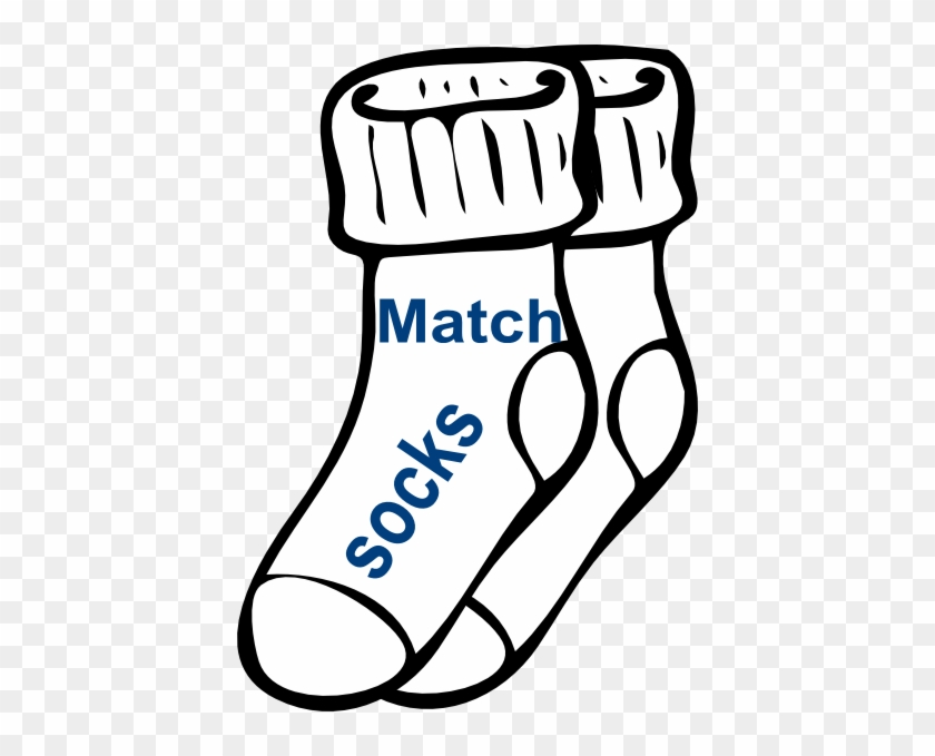 Coloring Picture Of Socks #38206