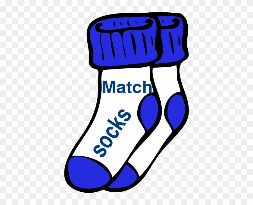 Chores Blue Match Socks Clip Art - Socks Clip Art #38207