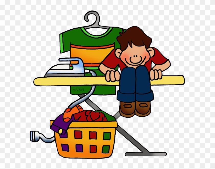 Ironing - Phillip Martin Clipart Chores #38224