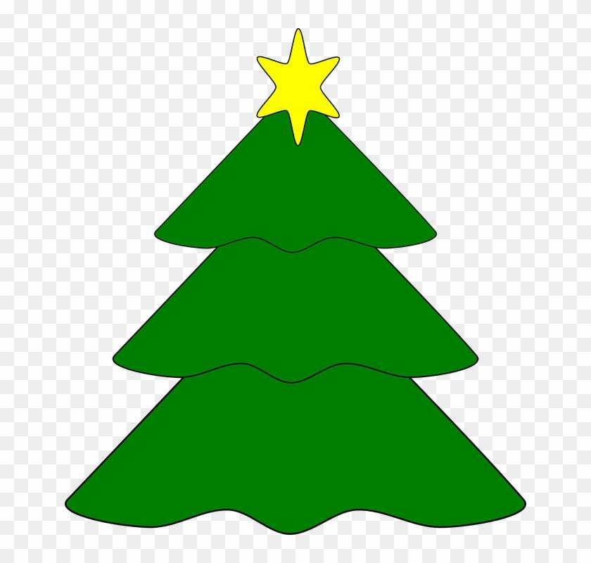 Clipart Christmas Tree Star - Arbol De Navidad Con Estrella #38277