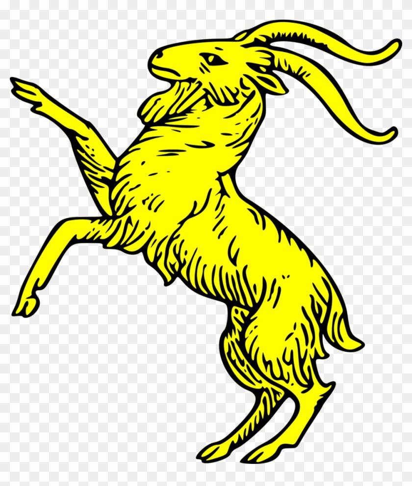 Goat Rampant - Goat Coat Of Arms #38390