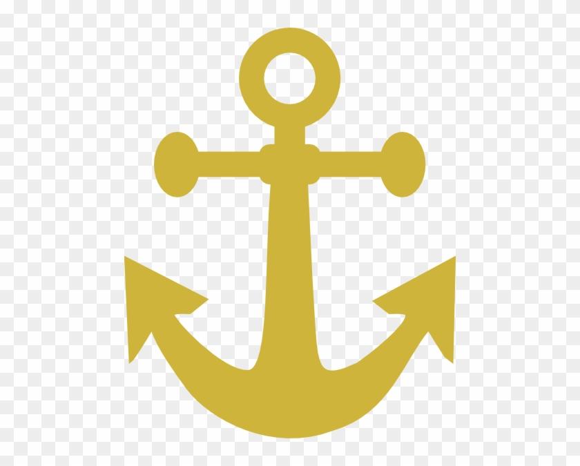 Gold Anchor Clipart Clip Art At Clker - Anchor Clip Art Gold #38405