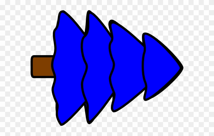 Large 4 Layer Blue Fir Tree Svg Clip Arts 600 X 455 - Clip Art #38525