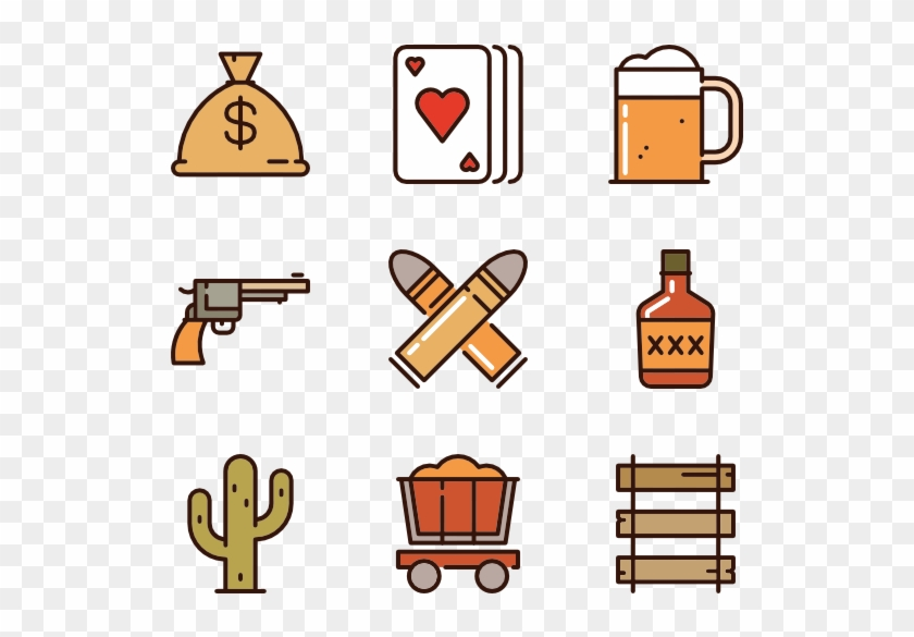 Wild West - Hand Drawn Icon Vector Png #38592