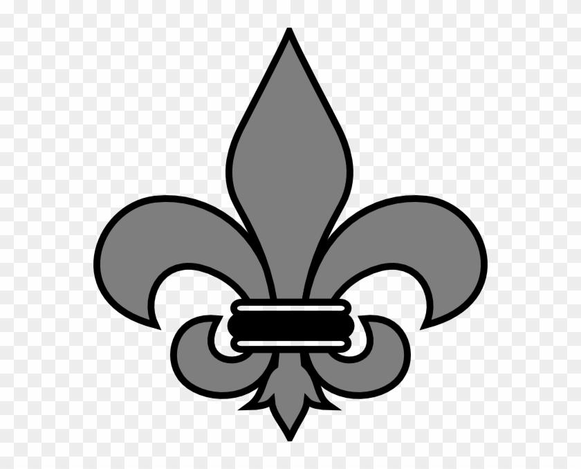 Grey Fleur De Lis Clip Art - Santa Teresa High School #38617