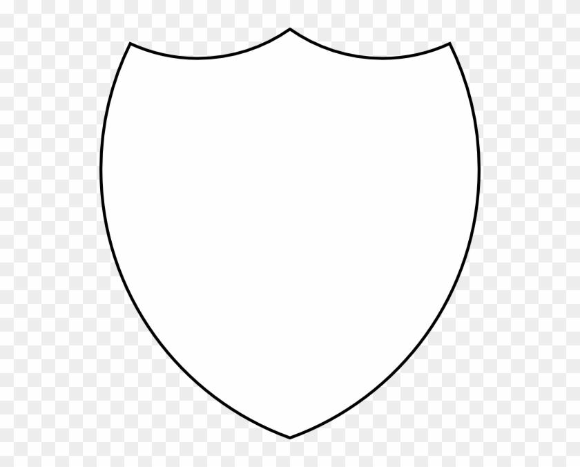 Shield Template Outline Clip Art Vector