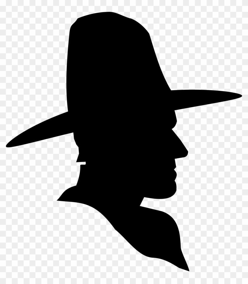 Cowboy Profile Silhouette - Silhouette Cowboy #38749
