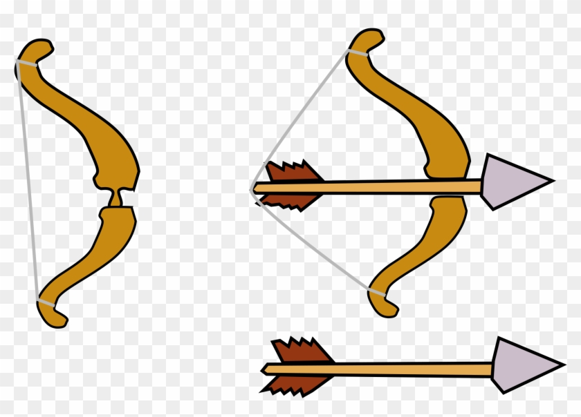 Bow Cartoon Bow And Arrow Free Transparent Png Clipart Images Download