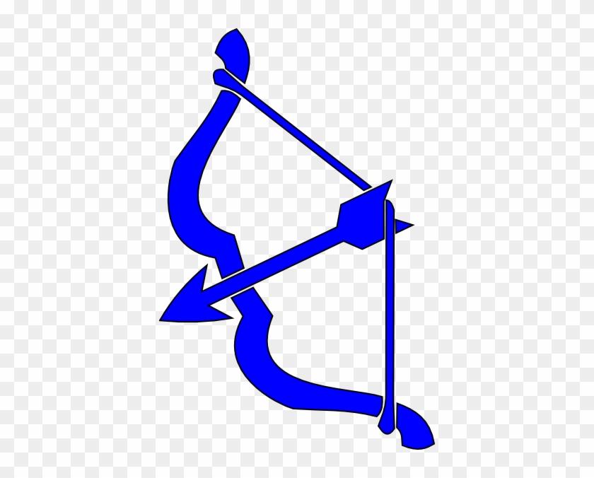 Bow - Blue Bow And Arrow #38887