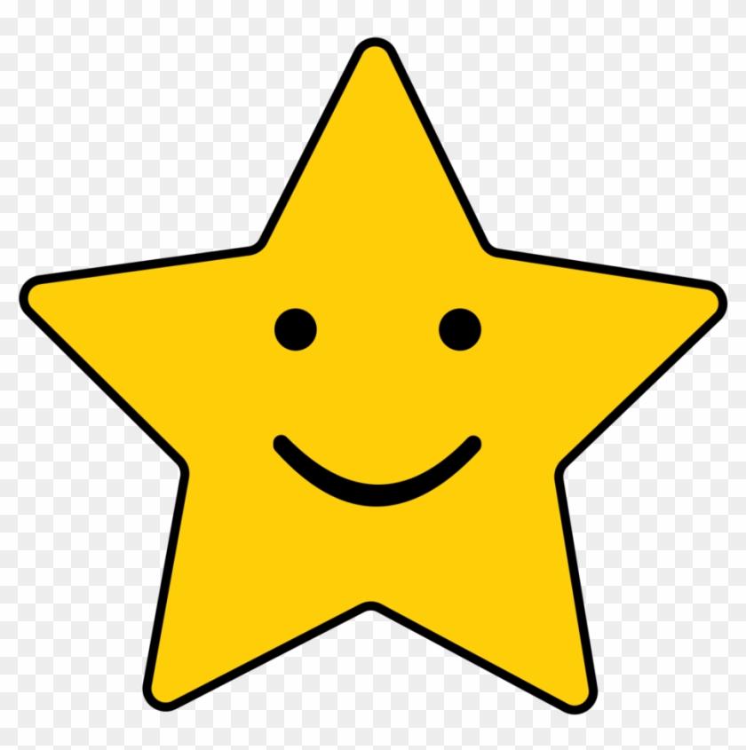Cute Star Clipart - Smile Star #38949