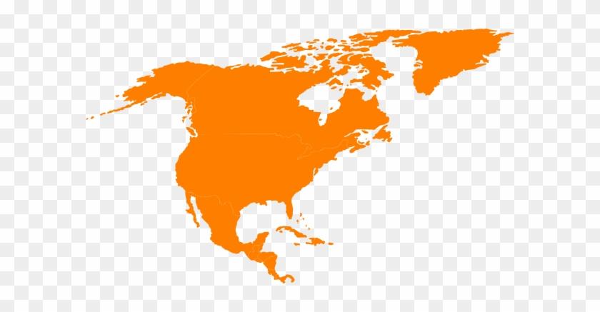 Montessori North America Continent Map Outline Clip - North America ...