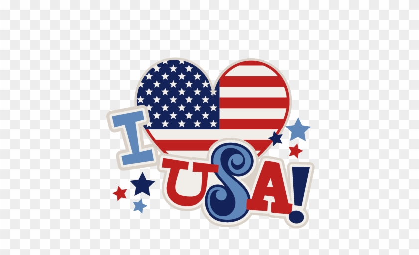 I Heart Usa Title Svg Scrapbook Cut File Cute Clipart - Love Usa Clipart #38986