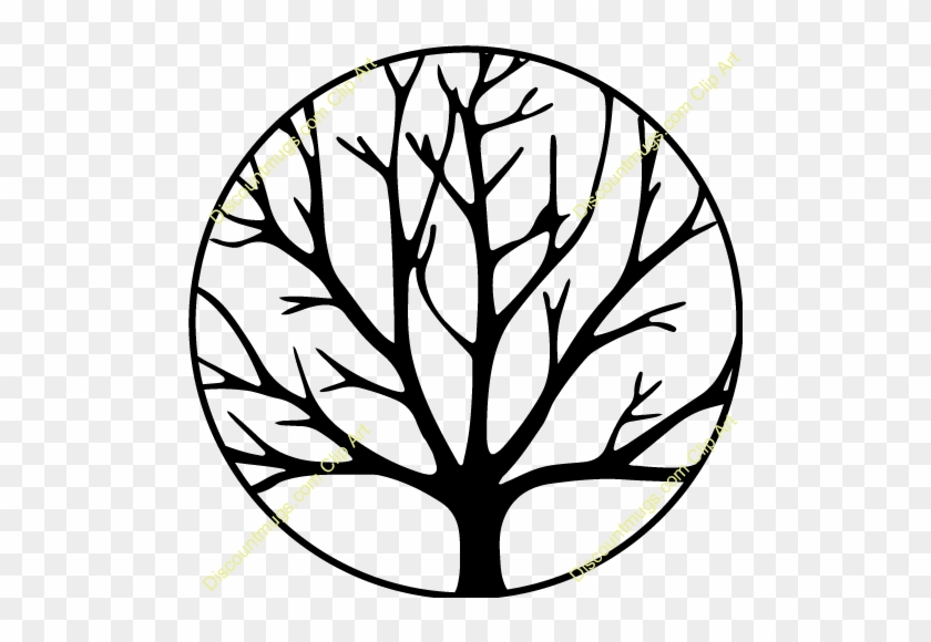 Swirly Family Tree Clip Art - Tree Without Leaves Coloring Page #38989