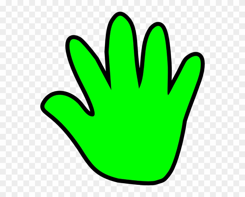Child Handprint Green Clip Art - Clipart Child Hand #39113