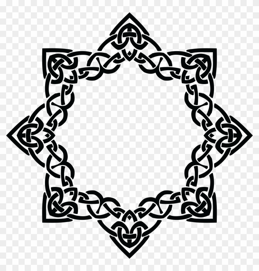 Ai Eps Svg Free Clipart Of A Celtic Border Design Black