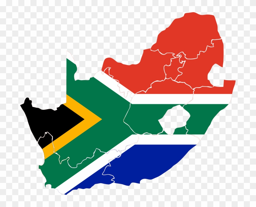 South Africa Flag Map Area Study Centre For Africa, - South Africa Map Flag #39256