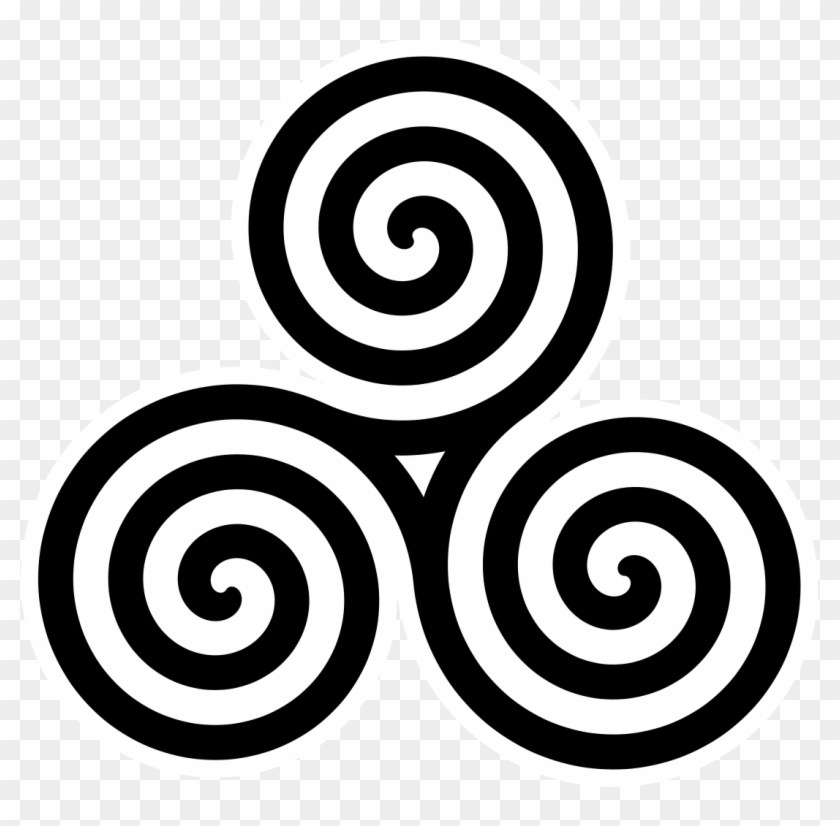 Celtic Clipart Moving Forward - Three Spiral #39376
