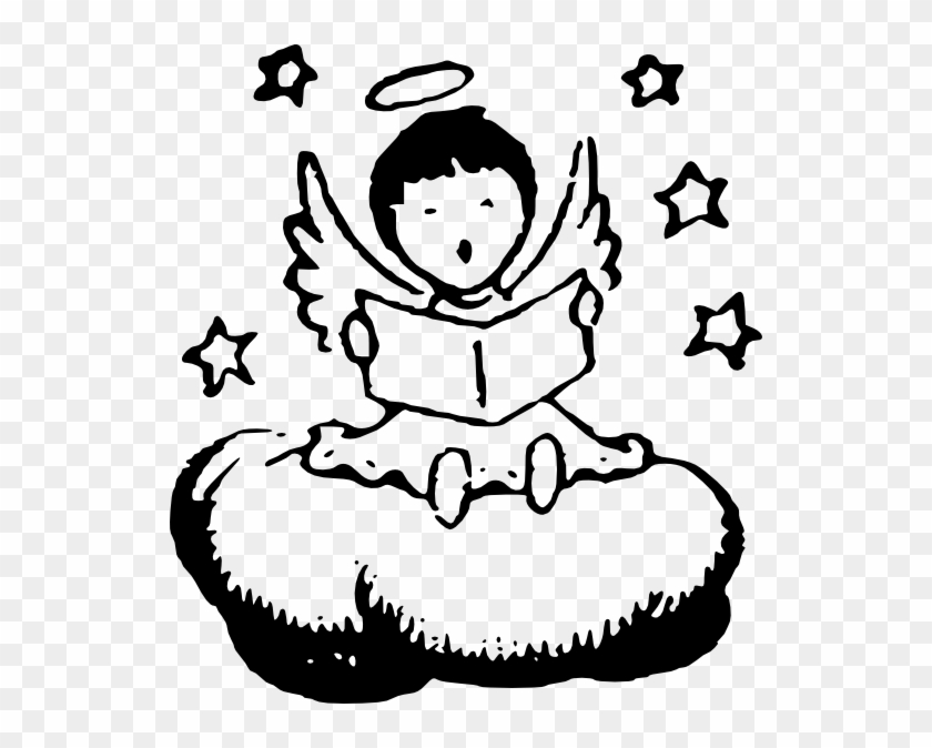Angel In Clouds Clip Art #39385