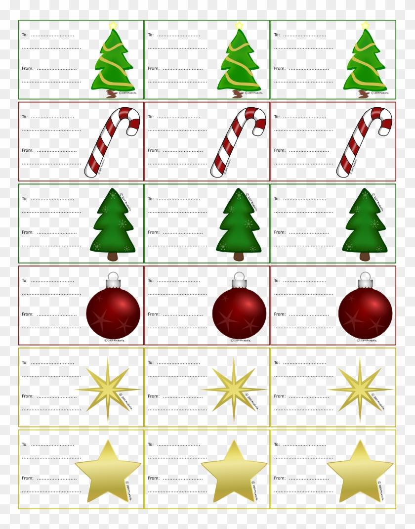 Christmas Labels - Christmas Tags Clip Art #39462