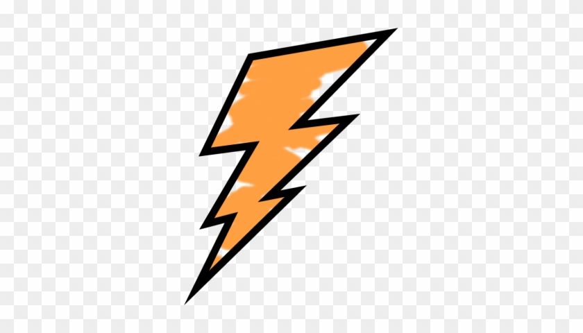 Orange Painted Lightning Bolt - Orange Lightning Bolt Logo #39463