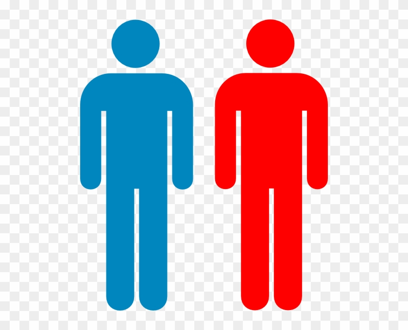 Blue And Red Person Symbol Clip Art - Person Outline Red #39659