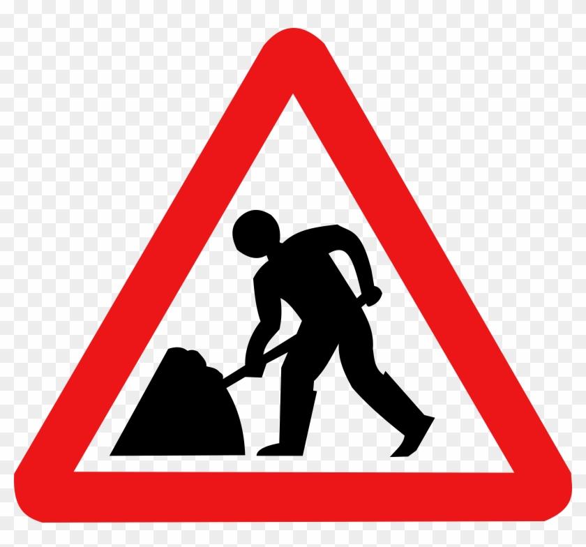 Roadwork Sign - Falling Rocks Sign Png #39700