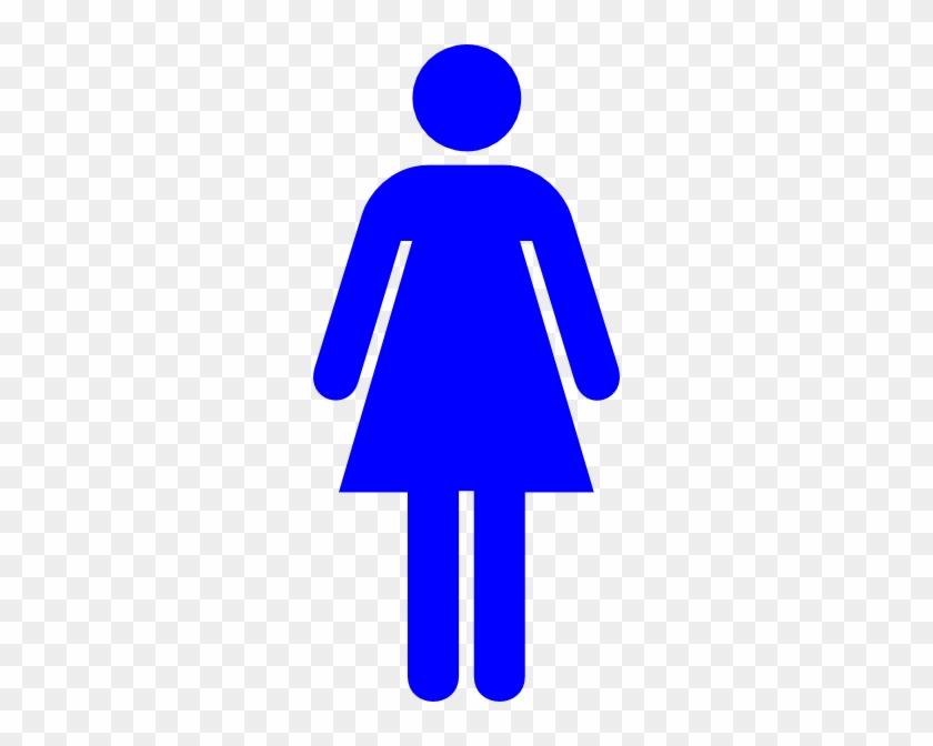 Blue Female Restroom Symbol Svg Clip Arts 270 X 588 - Blue Female Toilet Sign #39761
